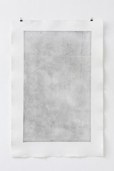 Verzinkter Stahl, Radierung auf Bütten, 120 x 80 cm, Auflage 2
